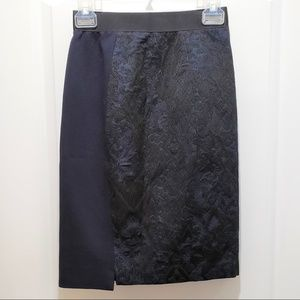 Elie Tahari Blue Side Split Lace Overlay Skirt 2